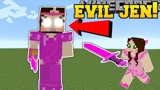 Minecraft: EVIL JEN!! (JEN DIMENSION, HEART CASTLE, & GIANT JEN!) Mod Showcase