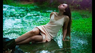 RAIN SOUNDS WITH QUOTES  3 HOURS   RELAXING SPIRITUAL CALMING MEDITATION AND DEEP SLEEP   AUTOGENIC