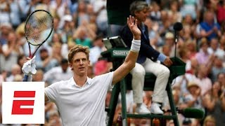 The last (50th!) game of Anderson vs. Isner's epic semifinal marathon match at Wimbledon 2018 | ESPN
