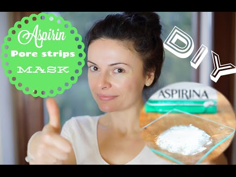 Face Mask for Acne:  Peel Off Aspirin Mask
