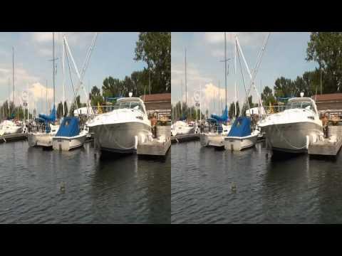 Toronto CANADA 3D Video - Beautiful boat trip