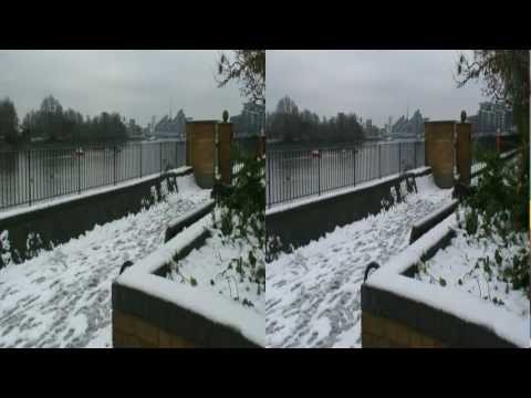 HD 3D London under Snow (Wimbledon Park and Wandsworth Park - 5 Feb 2012)