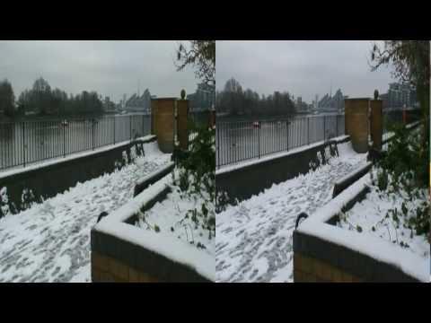 HD 3D London under Snow (Wimbledon Park and Wandsworth Park - 5 Feb 2012)