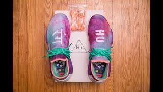 Adidas DYED my sneakers?!    Adidas Human Race Holi NMD Chalk Coral by Pharrell Williams Review