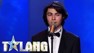 Azerbaijani refugee Ibrahim delivers the most emotional audition - Sweden's Got Talent - Talang 2017