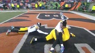 Le'Veon Bell Crazy TD w/ Wrestling Celebration! | Steelers vs. Bengals | NFL
