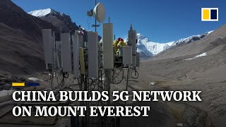 China builds world's highest 5G network station on Mount E..