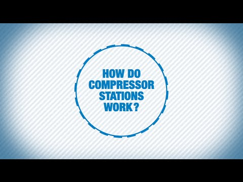 How do compressor stations work?