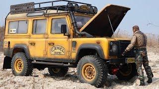 1/10 Scale Land Rover DEFENDER D110 CAMEL TROPHY Off Road #1 | TEST RUN & Making