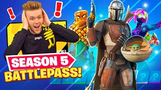 Fortnite SEASON 5 BATTLEPASS (BABY YODA + MORE!)