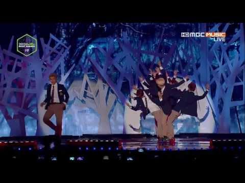 [EXO] VCR + 늑대와미녀 (Wolf) + VCR + 으르렁 (Growl) 131114 MMA Melon Music Awards