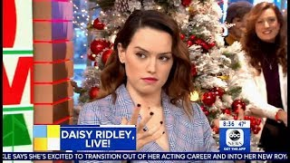 Daisy Ridley Answers Question REY 'DARK SIDE' Of The Force? (GMA)