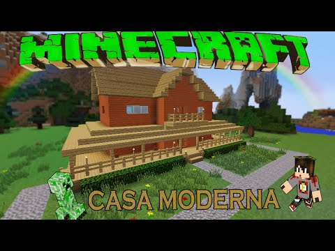 Minecraft casa moderna de madera facil tutorial 1 for Casa moderna minecraft paso a paso