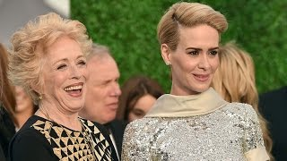 Sarah Paulson Makes Red Carpet Debut  With Girlfriend Holland Taylor at the Critics' Choice Awards