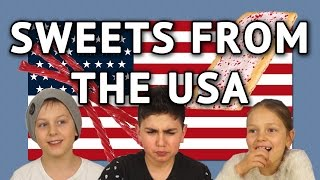 German Kids try Sweets from the USA