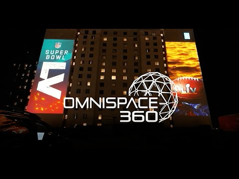 Super Bowl LV Projection Mapping by Omnispace360