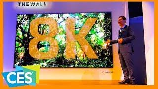 شاشة 8K عملاقه من سامسونج | ملخص اليوم الاول من CES 2018     -