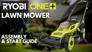 Video: 13 in. ONE+ 18-Volt Lithium-Ion Cordless Battery Walk Behind Push Lawn Mower - 4.0 Ah Battery & Charger Included