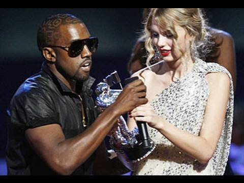 KANYE WEST INTERRUPTS TAYLOR SWIFT AT VMA'S