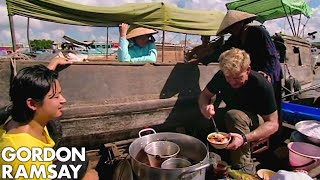 Gordon Ramsay Learns How To Prepare Vietnamese Soup | Gordon's Great Escape