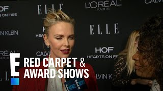 "Charlize Theron Spills on Being Honored at ""Elle"" Event 
