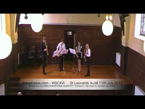 WSCXVI RAHA and CLUNES SAXOPHONE QUARTET   Diffusion   Hip Hop by Gordon Goodwin
