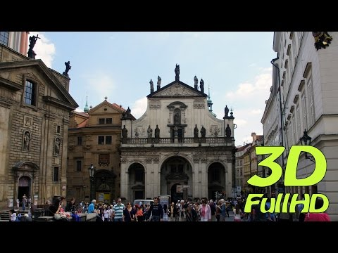 [3DHD] From Old Town Hall to Charles Bridge, Prague, Czech Republic / Od Staré radnice na Karlově m.