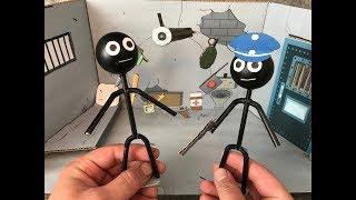 Stickman Jailbreak. Cardboard game. DIY