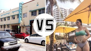 Cheap Hostel vs. Expensive Hotel | First time Hostel Experience (Miami Beach)