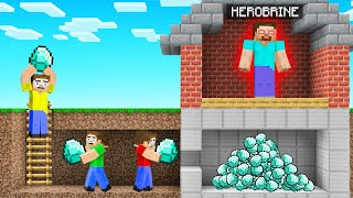 We STOLE DIAMONDS From HEROBRINE! (Minecraft)