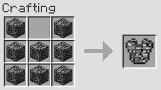 you can literally craft armor out of any block