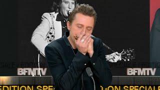 Le joueur d'harmonica de Johnny Hallyday joue l'air des Portes du Pénitencier