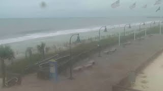 This is the scene at Myrtle Beach, South Carolina as the US East Coast braces for Hurricane Florence