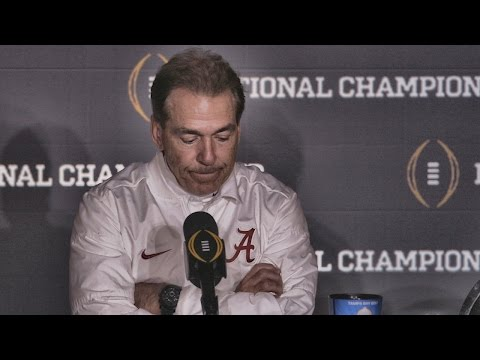 Hear what Nick Saban said after Alabama's last-second loss to Clemson