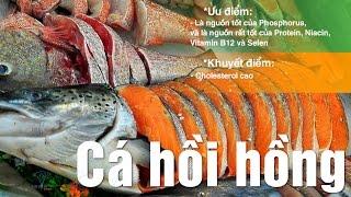Giá trị dinh dưỡng cá hồi hồng, hồi Đại Tây Dương nuôi sống