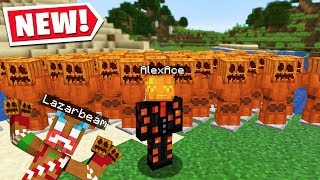 I CREATED A PUMPKIN ARMY In LAZARBEAMS MINECRAFT SERVER..