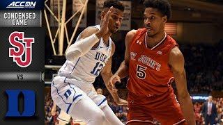 St. John's vs. Duke Condensed Game | 2018-19 ACC Basketball