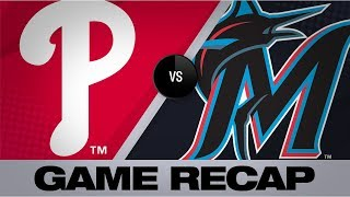 Marlins explode for 19 runs in win over Nats   Phillies-Marlins Game Highlights 8/23/19