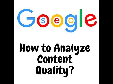 How to analyze content quality?
