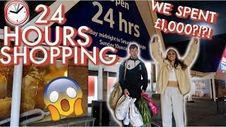 24 HOURS SHOPPING & I SPENT £1,000!!!! 24 HOUR CHALLENGE