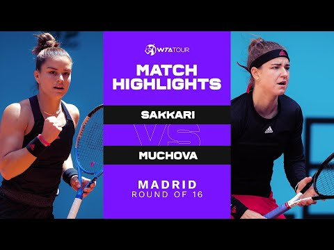Maria Sakkari vs. Karolina Muchova | 2021 Madrid Round of 16 | WTA Match Highlights