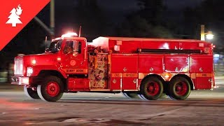 Fire Engines, CalFire, and Sheriffs Responding to a Wildfire! (Rincon Fire)
