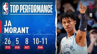 JA SHOWS OUT Against Houston!