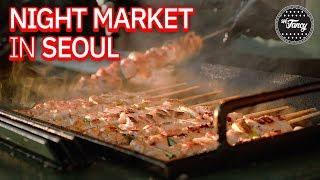 Incredible Food Night Market in Seoul