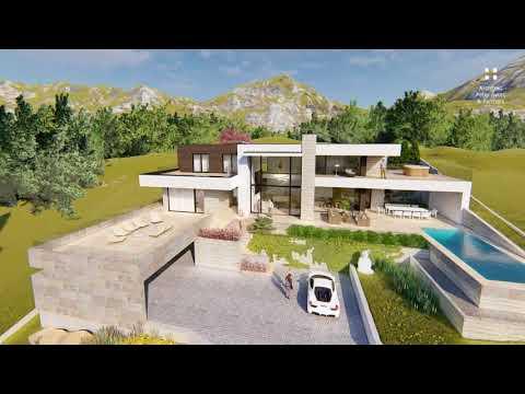 Vizualizácia luxusného domu na Slovensku