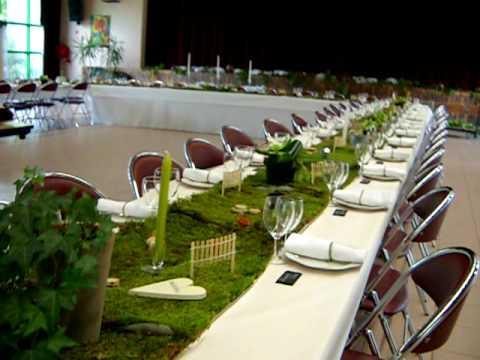 mariage christophe delphine deco table theme nature et jardin youtube. Black Bedroom Furniture Sets. Home Design Ideas