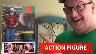 Scrap and Pallet Man Action Figure! Cleaning tools with Apple Cider Vinegar