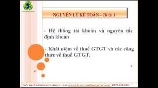 Video 1-Nguyên lý kế toán buổi 1