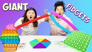 REVIEWING GIANT FIDGET TOYS - WORLD'S LARGEST POP IT FIDGETS!!