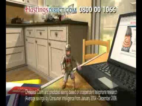 Hastings Direct Insurance Classic Advert 2006
